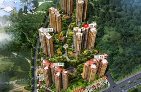 东江豪门4栋在售,建面98-134平米,共184套,均价8600元/平米