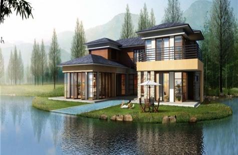 方圆东江月岛现有二期新中式合院5-7栋在售,均价25000元/平米