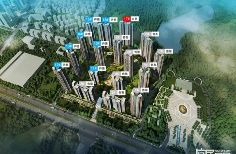 深业喜悦城现17栋高层住宅已开盘,均价9100元/平