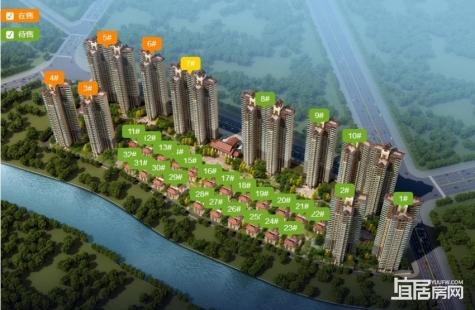 惠州世纪金湖花园在售3/4/5/6/7栋高层洋房均价为12600元/平