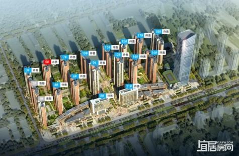 惠州大中华幸福城在售5栋户型为建筑面积81/113/107/146/125㎡