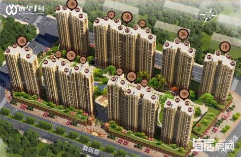 惠州远望1号目前在售5号楼,均价为7500元/平米