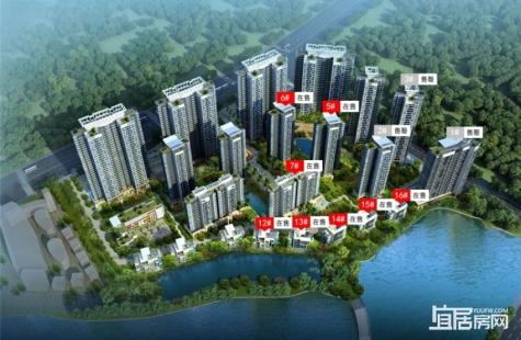 惠州五经山水大观昕园现在售建面120-143平均价13000元/平米