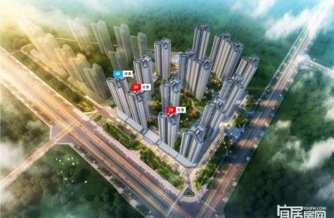 惠州融创玖樟台在售2栋新品,96/100/108平米户型,均价10500元/平