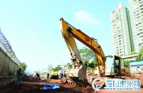仲恺大道惠环段已进入路面施工阶段 计划春节前通车