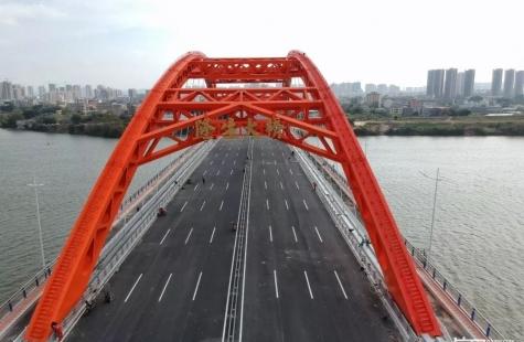 隆生大桥及相接道路主体施工基本完成