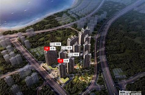 畔山悦海花园在售1/5栋房源,建面73/90/117平3-4房户型