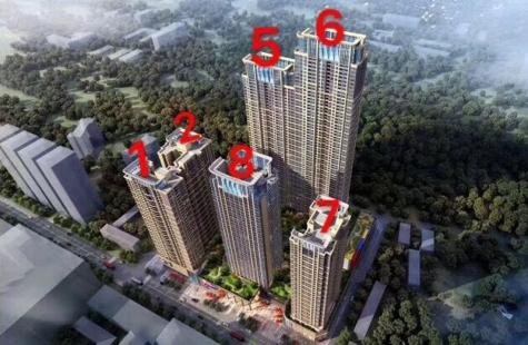 当代MOMA上品湾目前在售8栋,建面27-50平米的单间滨海公寓