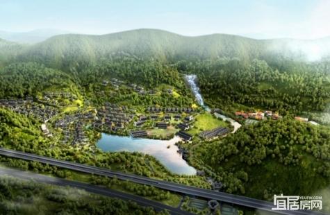 中海汤泉目前在售建面164-608平米中式别墅