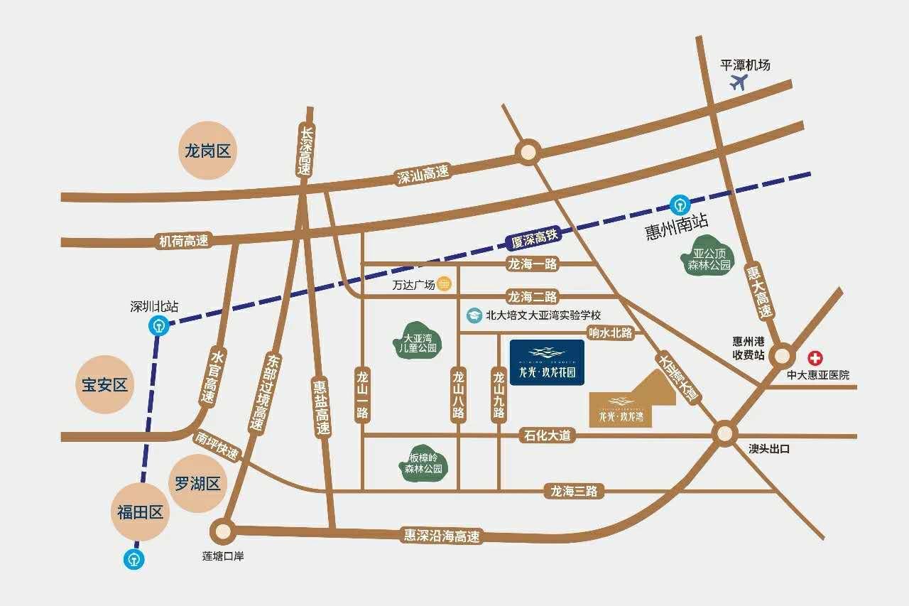 龙光玖龙花园交通图