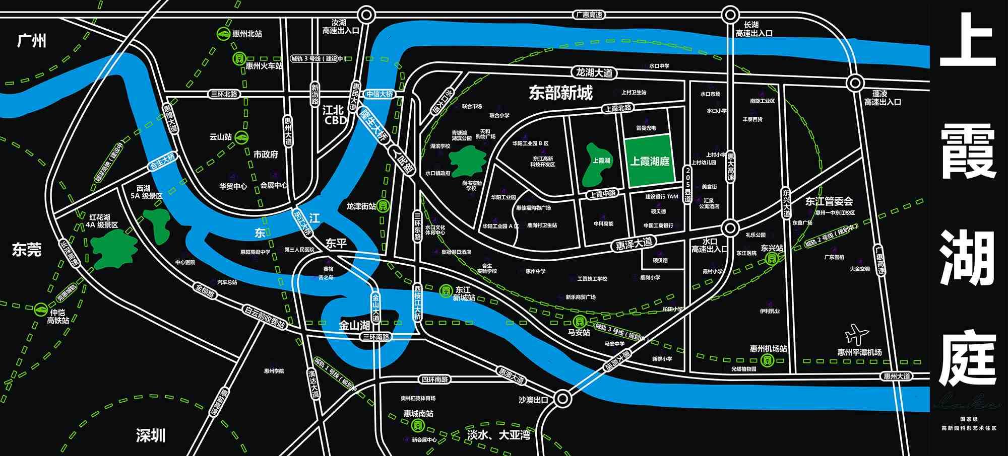 上霞湖庭交通图