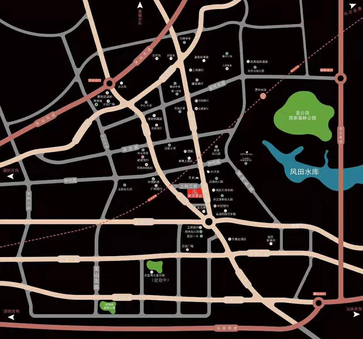 聚德豪庭交通图