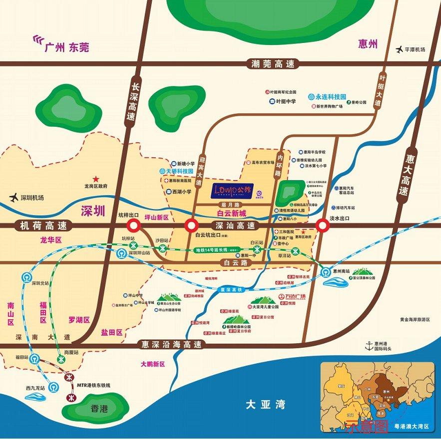 卓洲LOMO公馆交通图