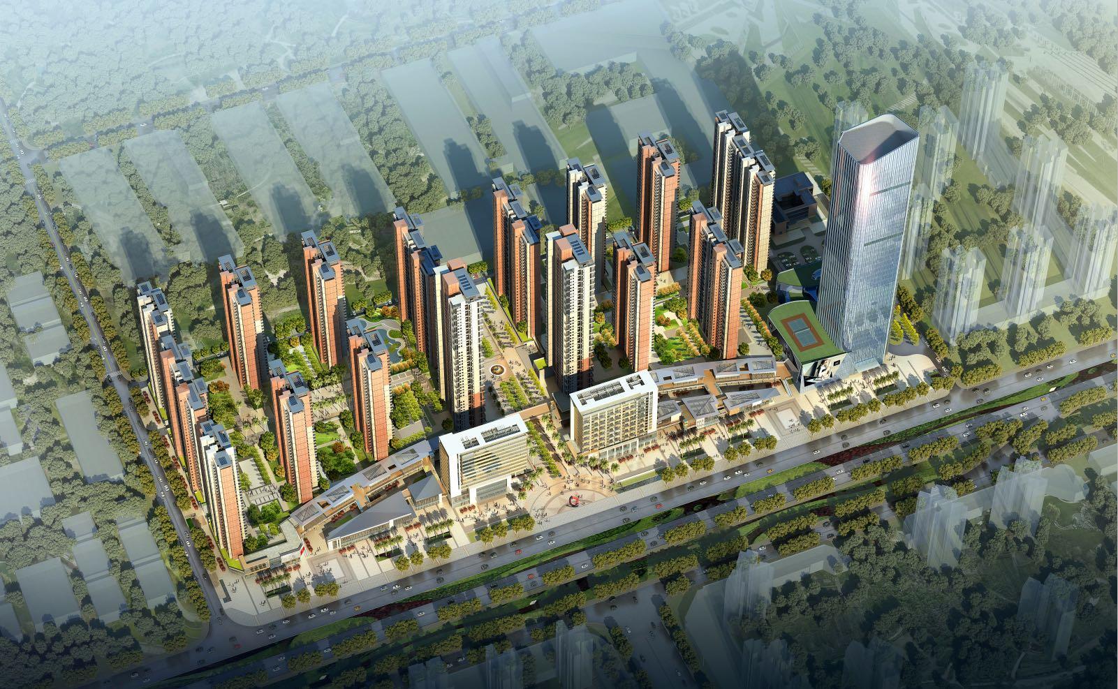 大中华幸福城效果图