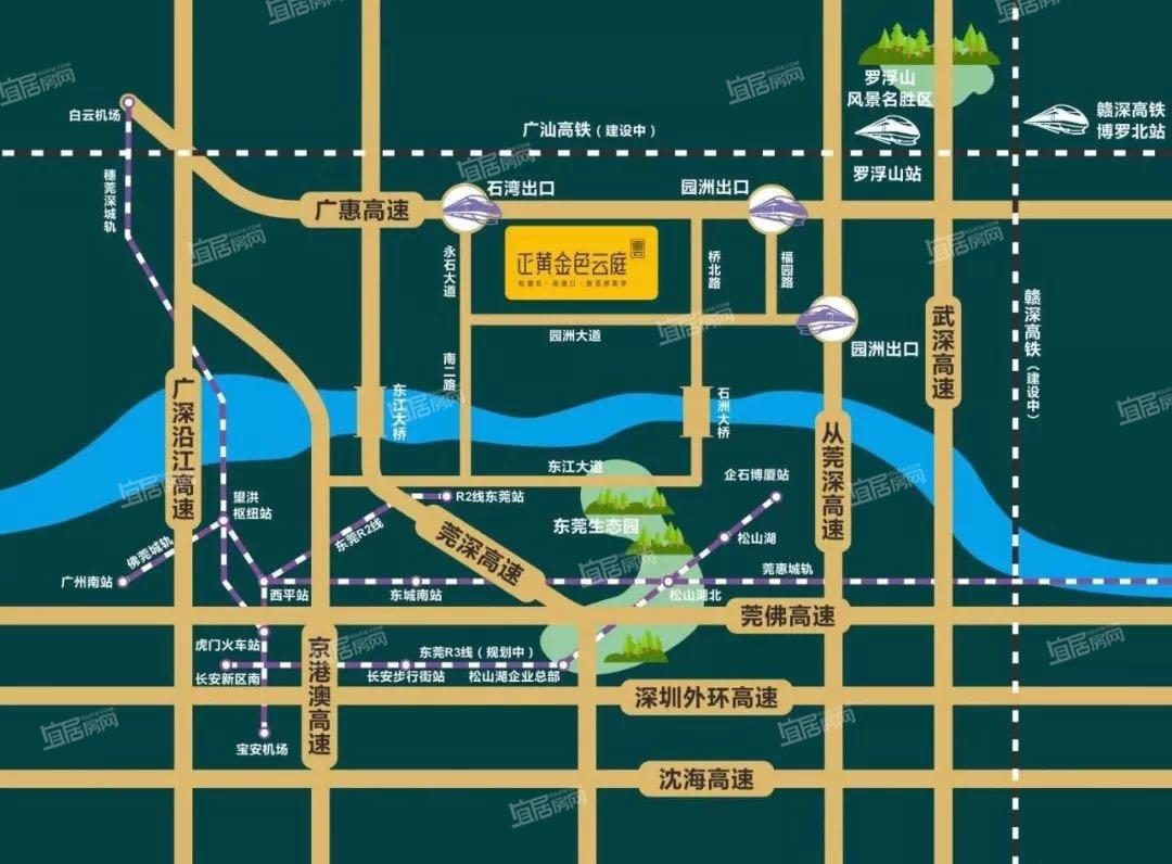 正黄金色云庭交通图