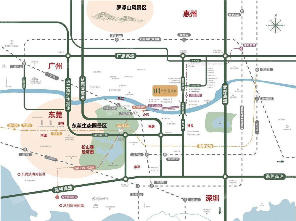 高新云锦台交通图