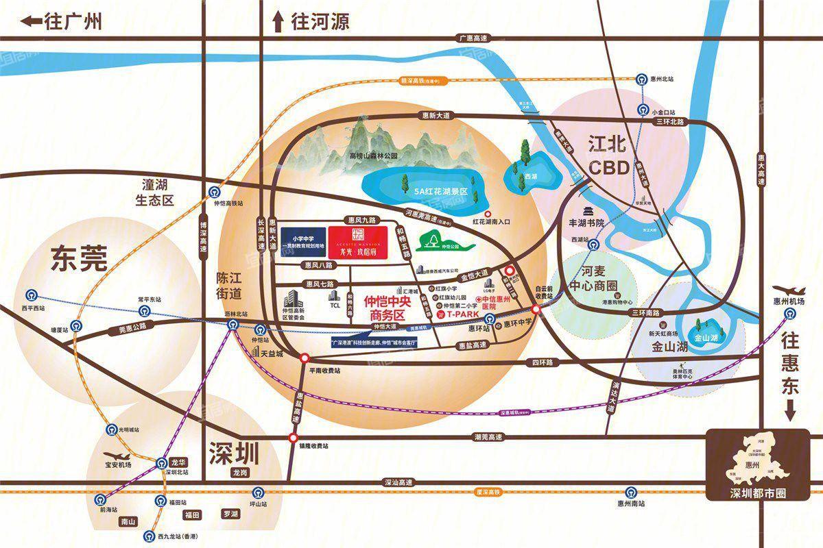 龙光玖榕府交通图
