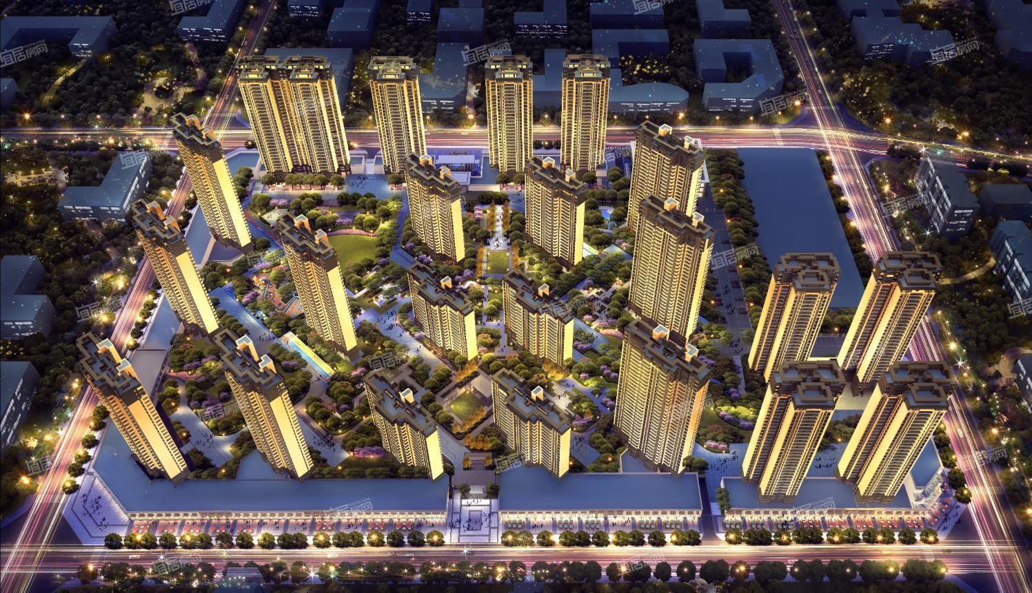 龙湖春江天境整体鸟瞰图