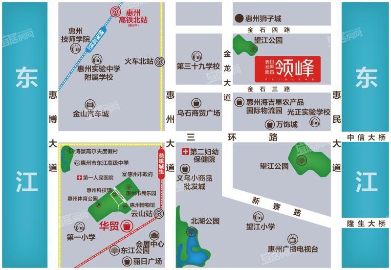 碧桂园日昇昌领峰花园交通图