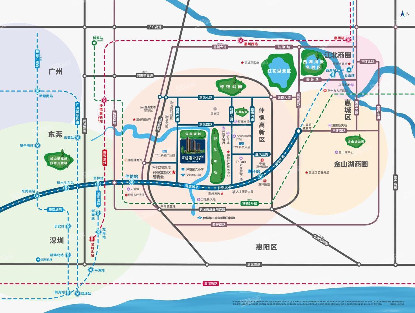 富雅水岸交通图