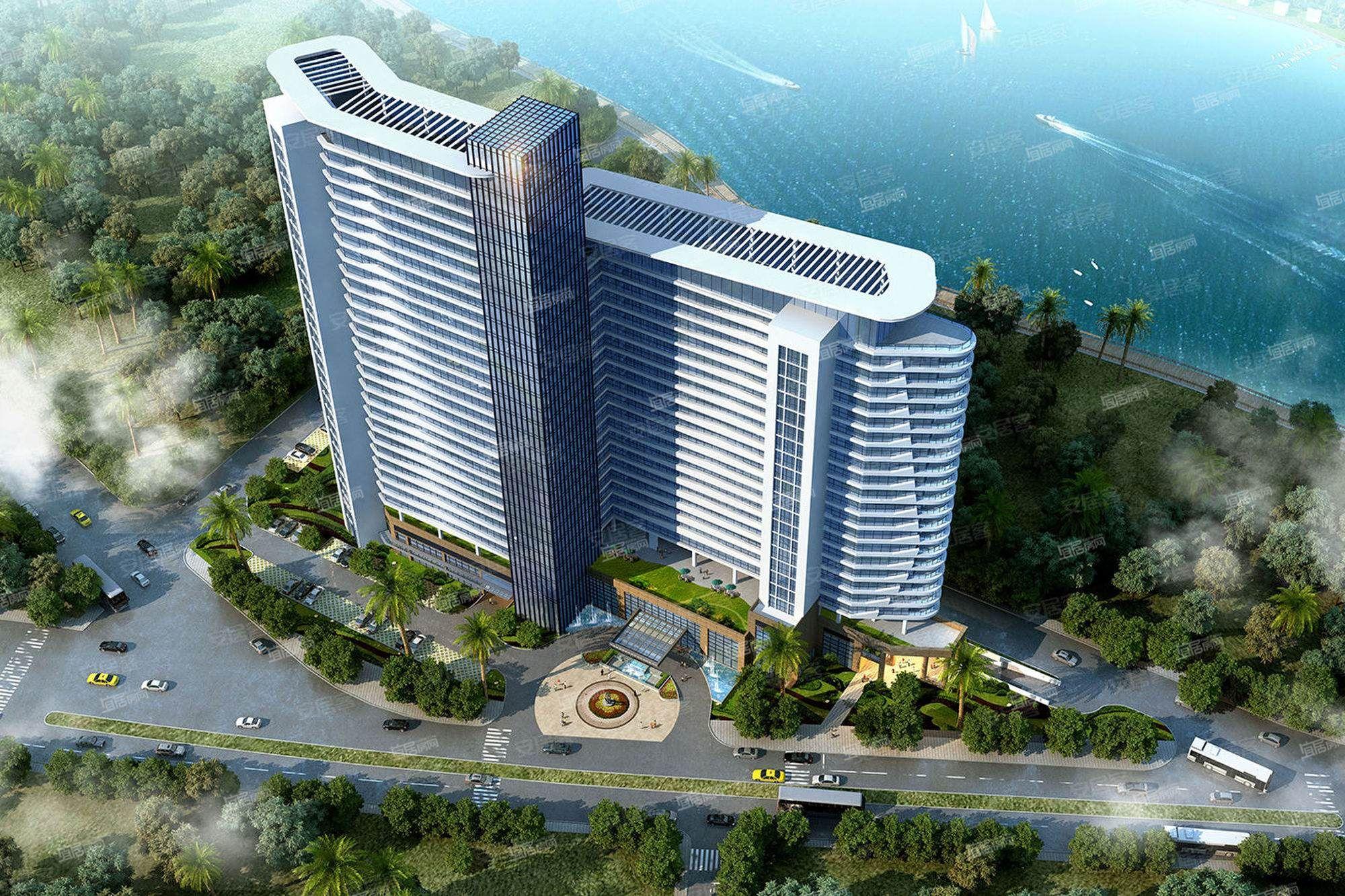 裕华熙龙湾酒店整体鸟瞰图