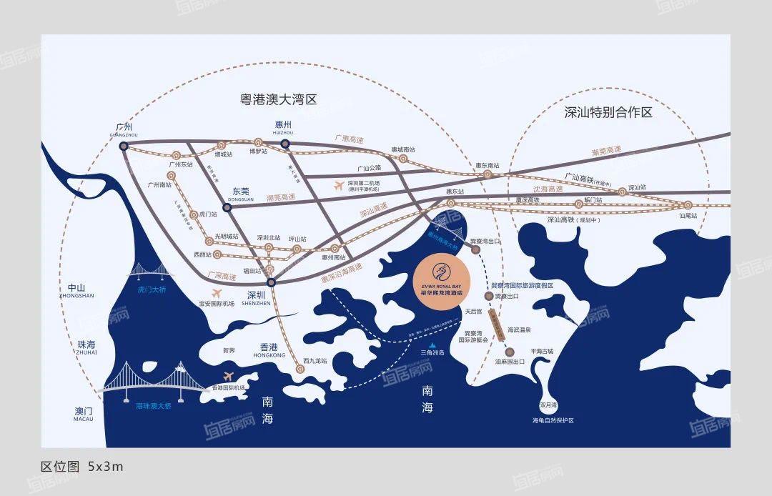 裕华熙龙湾酒店交通图