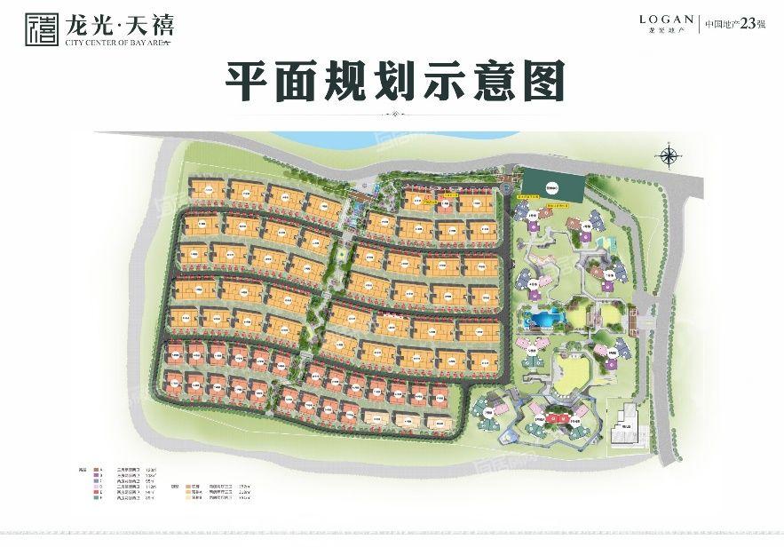 龙光玖悦城一期龙光天禧平面图