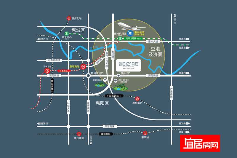 东亚恒逸华庭交通图