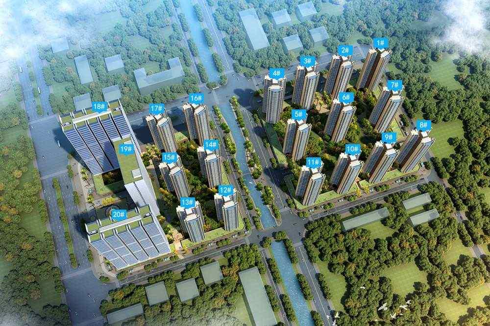仲恺龙光玖龙台在售18栋公寓产品,建面约36/45㎡
